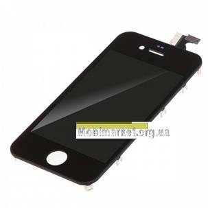 Модуль (сенсор + дисплей LCD) Apple iPhone 4 high copy чорний, фото 2