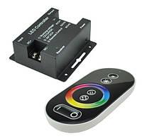 Контроллер для LED RGB ленты RF 18А 12Vс радио пультом сенсорный черный Код.57719