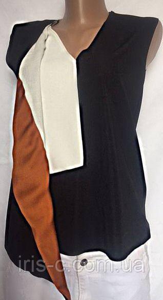 Женская блуза ZARA с оригинальной откидной полочкой размер S/M