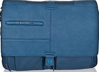 Мужская стильная наплечная сумка Piquadro SIGNO/Bk.Blue, CA1592SI_AV синий