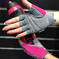 ПЕРЧАТКИ ДЛЯ ТРЕНИНГА WOMENS FUNDAMENTAL FITNESS GLOVES M VIVID PINK/COOL GREY/WHITE N.LG.90.687.MD