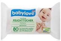 Babylove Sensitive детские салфетки с пантенолом (80 шт) Германия