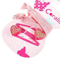 Набор аксессуаров для волос Coralico Pink hearts, 4 шт. 229132 ТМ: Coralico
