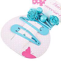 Набор аксессуаров для волос Coralico Blue rose, 4 шт. 229151 ТМ: Coralico