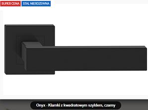 Дверная ручка  Metal-bud Onyx  нержавеющая сталь черная