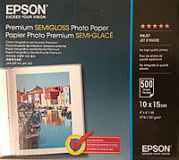 Фотобумага Epson Premium Semigloss Photo Paper 10x15 (500 листов)