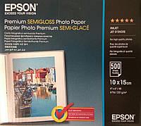Фотобумага Epson Premium Semigloss Photo Paper 10x15 (500 листов)