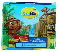 SauBär салфетки влажные для туалета с ароматом банан-вишня (60 шт) Германия
