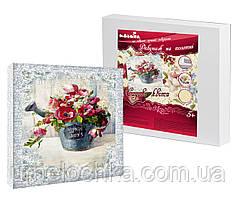 Набор для декупажа на холсте Идейка Садовые цветы (ide_94618) 30 х 30 см