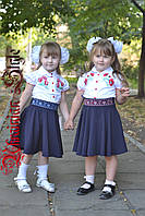 Школьная детская вышитая юбка-клеш. 2 цвета!