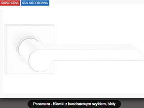 Дверная ручка  Panamera  нержавеющая сталь белая