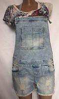 Комбинезон женский, джинсовый, шорты рваные, O'STIN размер M, фото 1