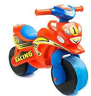 """Каталка """"Мотоцикл"""", 2-х колесный, оранжевый, в пак. 74*46см, Украина (1шт)(11-006ОРАНЖ)"""