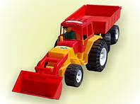 Трактор, ковш, прицеп, в сетке 80*20см, ТМ BAMSIC, произ-во Украина (4 шт/уп)(007/2)