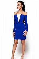 Облегающее платье с открытыми плечами