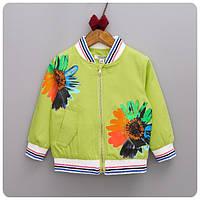 Детская куртка для девочки бомбер университетская куртка