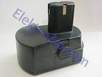 """Двухконтактный аккумулятор """"Башмак"""" с лампочкой, на высокой ножке 18V 1.2A/h для шуруповерта"""