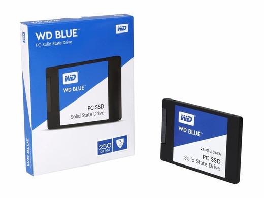 """SSD Western Digital Blue SSD 250GB 2.5"""" SATAIII TLC (WDS250G1B0A) """"Over-Stock"""""""