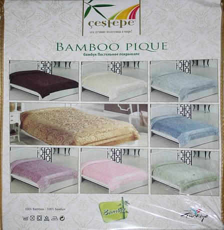 Бамбукова махрове простирадло Bamboo Pique Cestepe, фото 2
