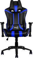 Кресло для геймеров Aerocool AC120BB Black-Blue + 2 подушки (ACGC-2002101.B1)