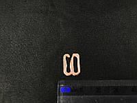 Крючок 10мм на брители розовое золото