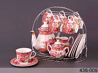 """Чайный сервиз на 15 пр-в на подставке """"Весеннее настроение"""" Lefard 436-006"""