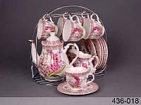 """Чайный сервиз на 15 пр-в на подставке """"Летний букет"""" Lefard 436-018"""