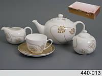 """Фарфоровый чайный сервиз на 15 пр-в """"Лотос"""" Lefard 440-013"""