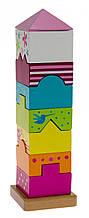 Развивающая детская игрушка для маленьких детей goki Пирамидка Башня 58542