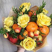"""Букет из фруктов и цветов """"Солнечный привет"""""""