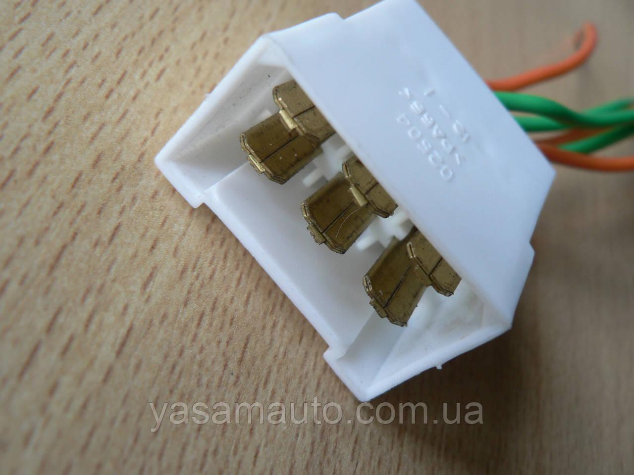 Колодка Фишка разъем проводки на 6 контактов папа вилка с проводами два цвета 100мм пара К06