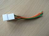 Колодка Фишка разъем проводки на 6 контактов папа вилка с проводами два цвета 100мм пара К06, фото 3