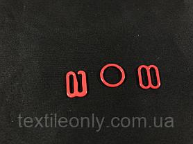 Крючок на бретели 10 мм цвет красный, фото 2