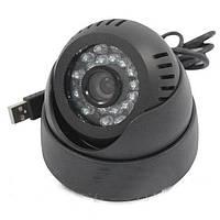 Купольная камера видеонаблюдения CAMERA TF CARD + DVR USB, фото 1