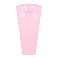 Бумажная сумка для букетов и горшечных цветов розовая
