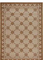 Безворсовый ковер-рогожка плетение квадрат
