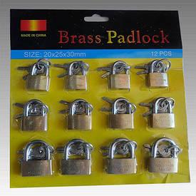 Замки навесные brass padlock набор 12шт