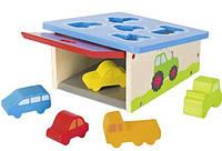 Детская игрушка для маленьких детей goki Сортер Транспорт 58668