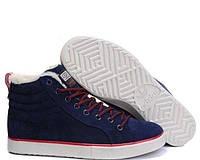 Зимние мужские кроссовки Adidas Ransom Fur синие