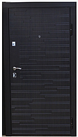 Двери входные металлические нестандрат Evro Door 866 венге темный Vinorit 1900x860x85мм - АПЕКС-интернет-магазин в Днепре