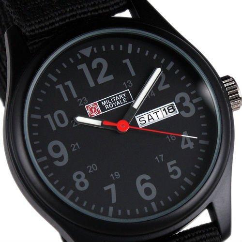 Мужские армейские часы Military Royale MR053 Black