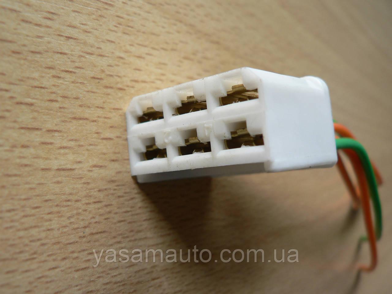 Колодка Фишка разъем проводки универсальная на 6 контактов мама розетка с проводами два цвета 100мм пара К06