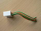 Колодка Фишка разъем проводки универсальная на 6 контактов мама розетка с проводами два цвета 100мм пара К06, фото 3