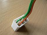 Колодка Фишка разъем проводки универсальная на 6 контактов мама розетка с проводами два цвета 100мм пара К06, фото 5
