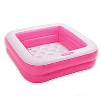 Детский надувной бассейн басейн Intex 57100, розовый