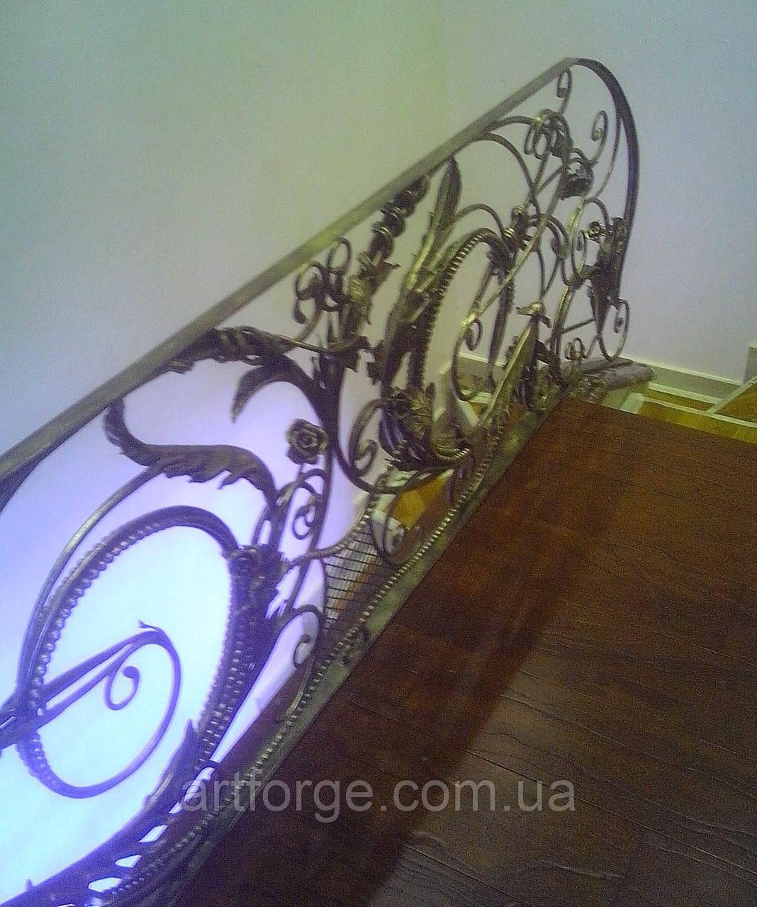 """Кованая лестница """"Флора"""""""