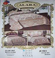 """Покрывало гобеленовое Alara """"Jumbo Jacquart Design"""" 240*240"""
