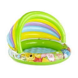 Детский надувной бассейн с навесом Винни пух INTEX 57424 Басейн круглый 102х69х13 см