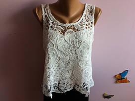 Маечная ажурная блузка