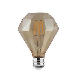 Светодиодная лампа Эдисона Filament VINTAGE DIAMOND-4 4W D95 Е27 2200K (мат.золото) Код.58300